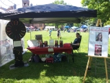 Photos from my Book Tent at the Gathering on the Green festival!
