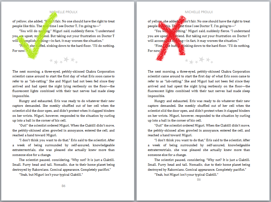 ways to make your self published book look more professional page number 3